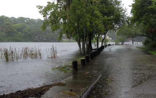 Flooding in Winter Haven after Tropical Storm Debbie; Photo Credit: Bay News Nine