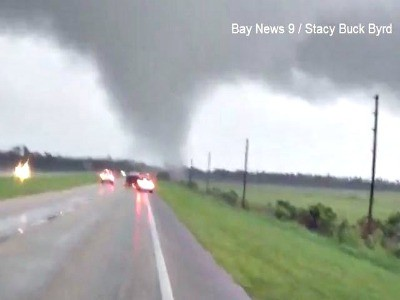 Tornado Crossing SR 60 June 24, 2012; Photo Credit: Stacy Buck Byrd, Bay News Nine